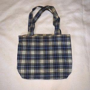 Gap |  Blue Plaid Tote Bag